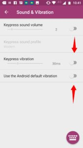 Disable Vibration in SwiftKey