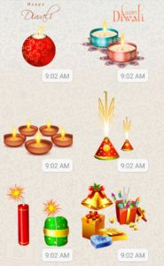 Whatsapp Diwali stickers